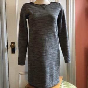 LOFT Jersey Dress Faux Leather